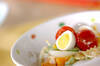 パンプキンマカロニサラダの作り方の手順