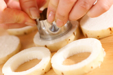 サクサク長芋のサーモン詰めの作り方1