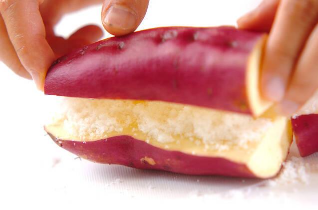 サツマイモの茶巾の作り方の手順1