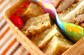 カレー風味のレンジ卵焼き