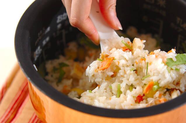 鮭の炊き込みご飯の作り方の手順6