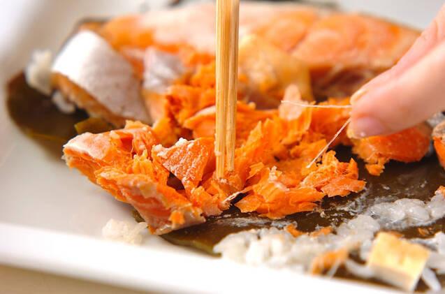 鮭の炊き込みご飯の作り方の手順5