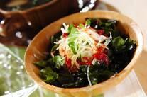 大根とワカメの梅サラダ