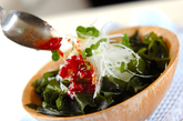 大根とワカメの梅サラダの作り方2