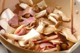 キノコとベーコンの五香粉炒めの作り方2