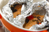 フライパンでアクアパッツァ風ホイル焼きの作り方3