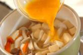 高野豆腐とユリネの卵とじの作り方6