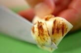 高野豆腐とユリネの卵とじの下準備1
