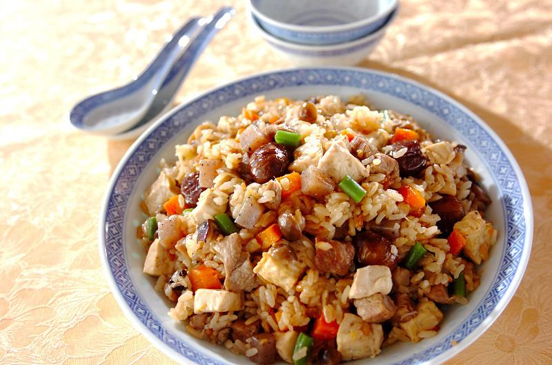 4.豆腐入り中華おこわ