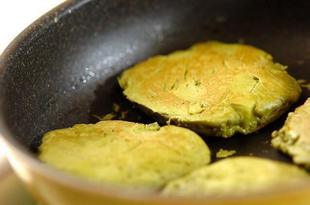 もちもち抹茶パンケーキの作り方の手順5