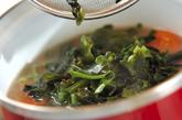 トマトのみそスープの作り方2