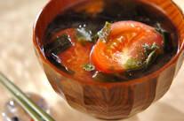 トマトのみそスープ