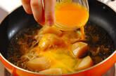 肉ジャガ卵とじ丼の作り方1