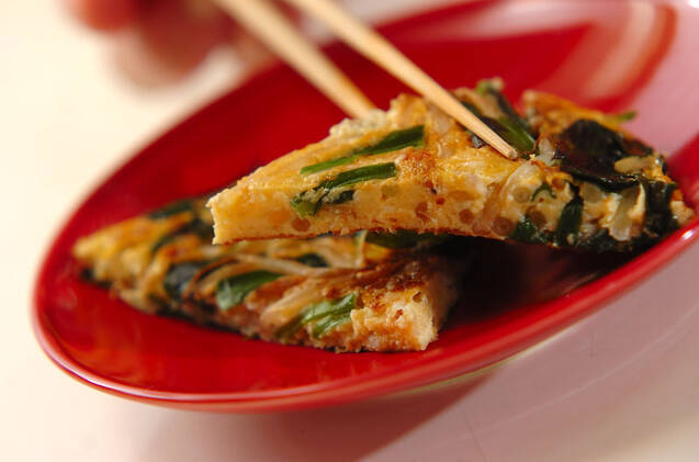 ニラとモヤシの卵焼きの作り方の手順7