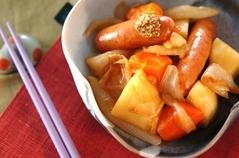ジャガとソーセージの煮物