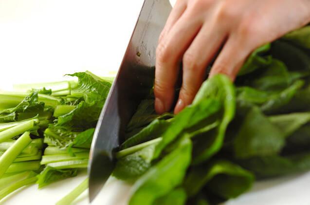 小松菜の中華和えの作り方の手順1