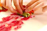 牛肉の野菜ロールの作り方2