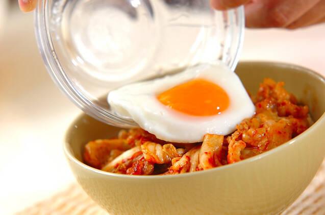 豚キムチ丼の作り方の手順5