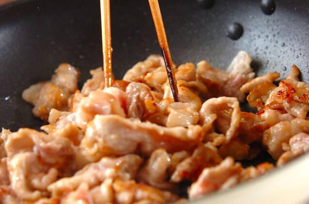 豚キムチ丼の作り方の手順4
