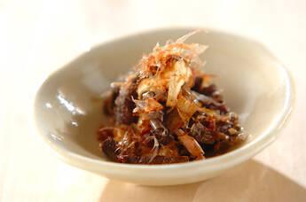 シイタケのおかかポン酢
