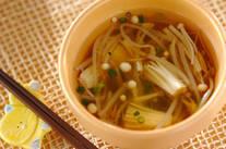 エノキの簡単スープ