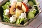 レタスとリンゴのサラダ