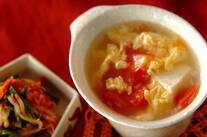 トマトと豆腐のスープ