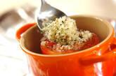 トマトの香ばしパン粉焼きの作り方4