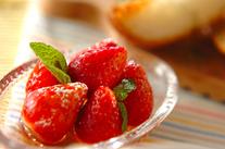 イチゴのハニーマリネ