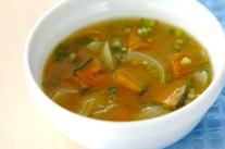 カボチャのカレースープ