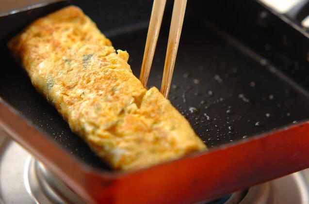 切干し大根とミツバ入り卵焼きの作り方の手順3