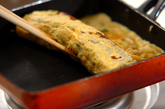 切干し大根とミツバ入り卵焼きの作り方2