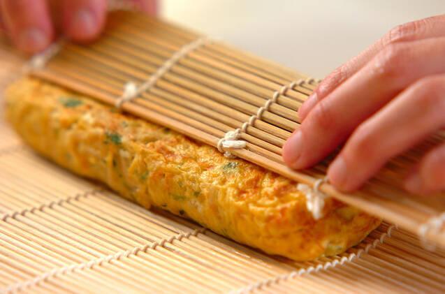 切干し大根とミツバ入り卵焼きの作り方の手順5