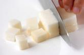 長芋の白みそ汁の下準備1