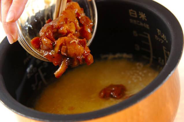 焼き鳥缶の炊き込みご飯の作り方の手順5