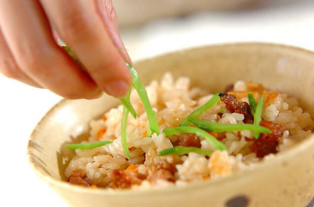焼き鳥缶の炊き込みご飯の作り方の手順6