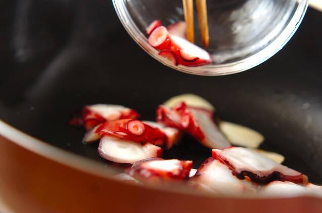 ヒジキとタコのツナパスタの作り方の手順6