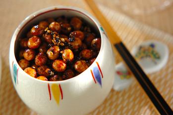 炒り大豆の甘辛煮