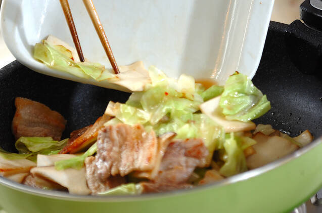 豚肉とエリンギの中華みそ炒めの作り方の手順3