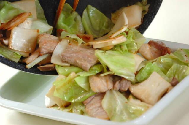 豚肉とエリンギの中華みそ炒めの作り方の手順2