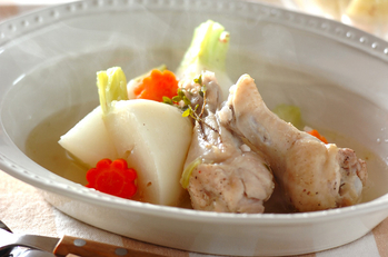 カブと鶏のポトフ