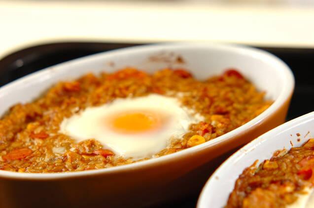 トロトロ卵の焼きカレーライスの作り方の手順9