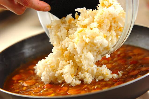 トロトロ卵の焼きカレーライスの作り方の手順7