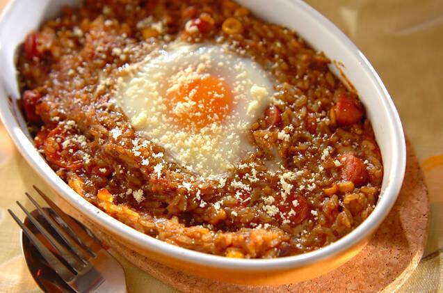 トロトロ卵の焼きカレーライス