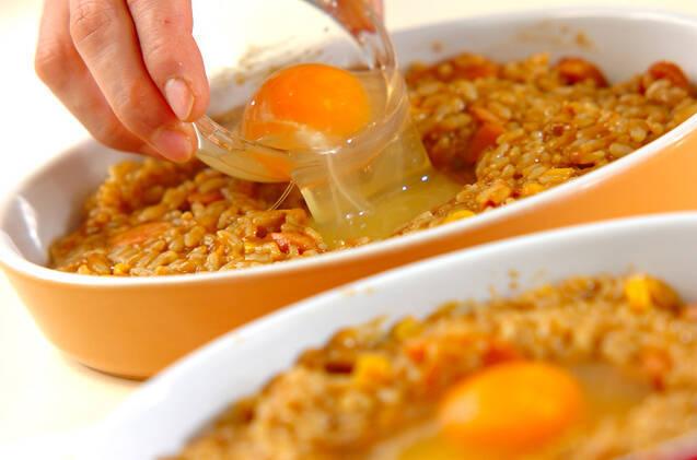 トロトロ卵の焼きカレーライスの作り方の手順8
