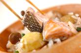 秋鮭の五目炊き込みご飯の作り方3