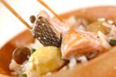 秋鮭の五目炊き込みご飯の作り方9