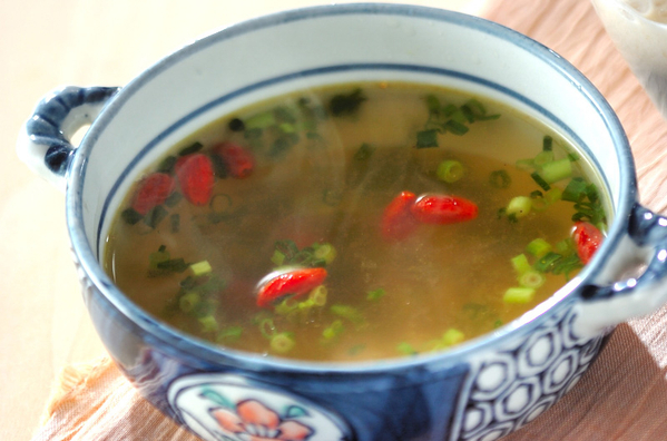 たっぷりネギの中華スープ
