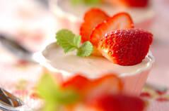 イチゴのパンナコッタ