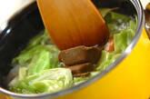 春キャベツとウインナーのカレースープの作り方3